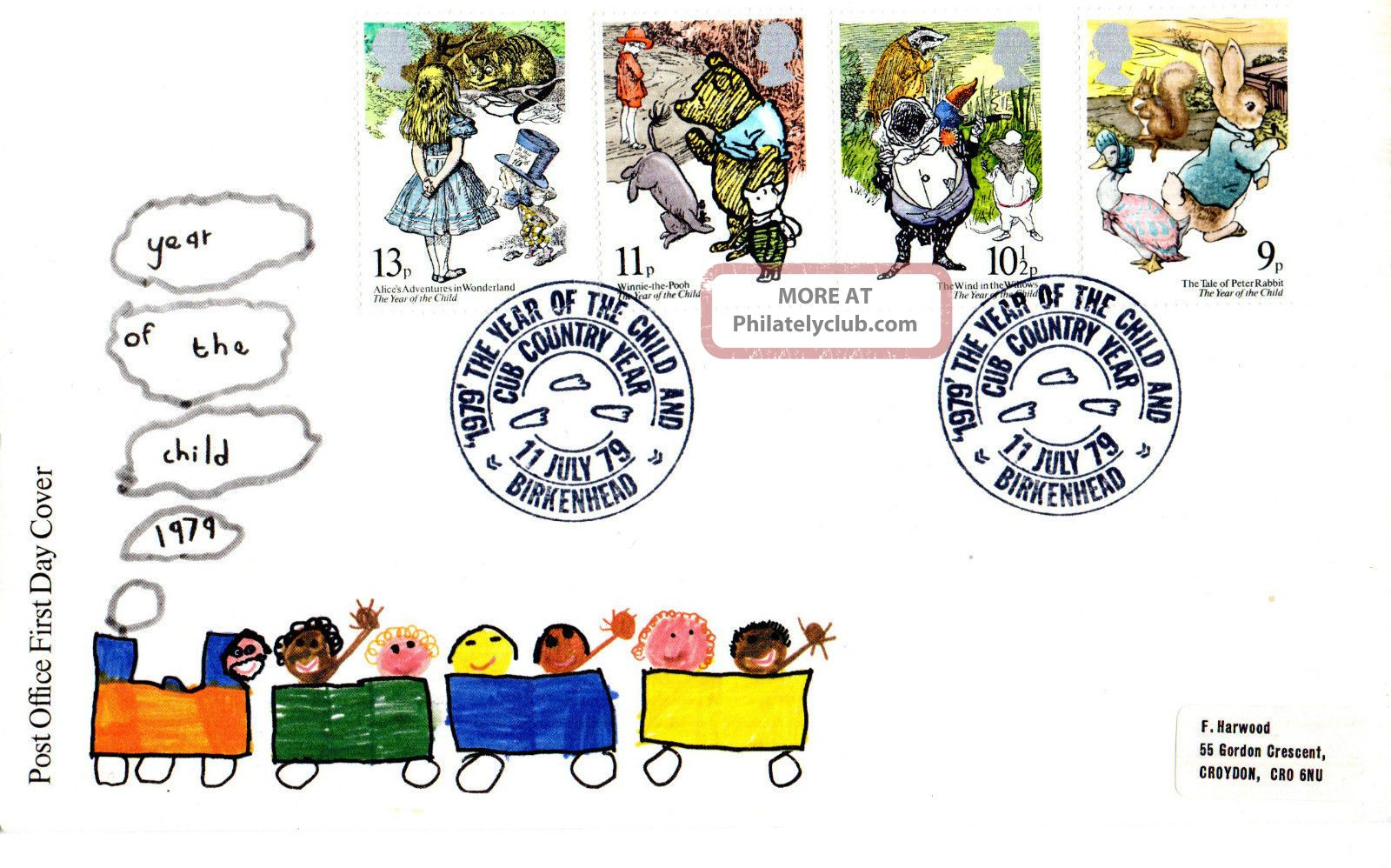 11 July 1979 International Year Of The Child Po Fdc Cub Country Year Birkenhead Topical Stamps photo