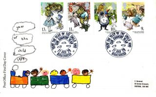 11 July 1979 International Year Of The Child Po Fdc Cub Country Year Birkenhead photo