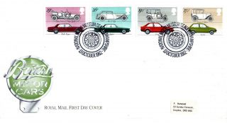 13 October 1982 British Motor Cars Royal Mail First Day Cover Nmm Beaulieu Shs photo