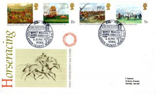6 June 1979 Horseracing Post Office First Day Cover Kiplingcotes Shs photo