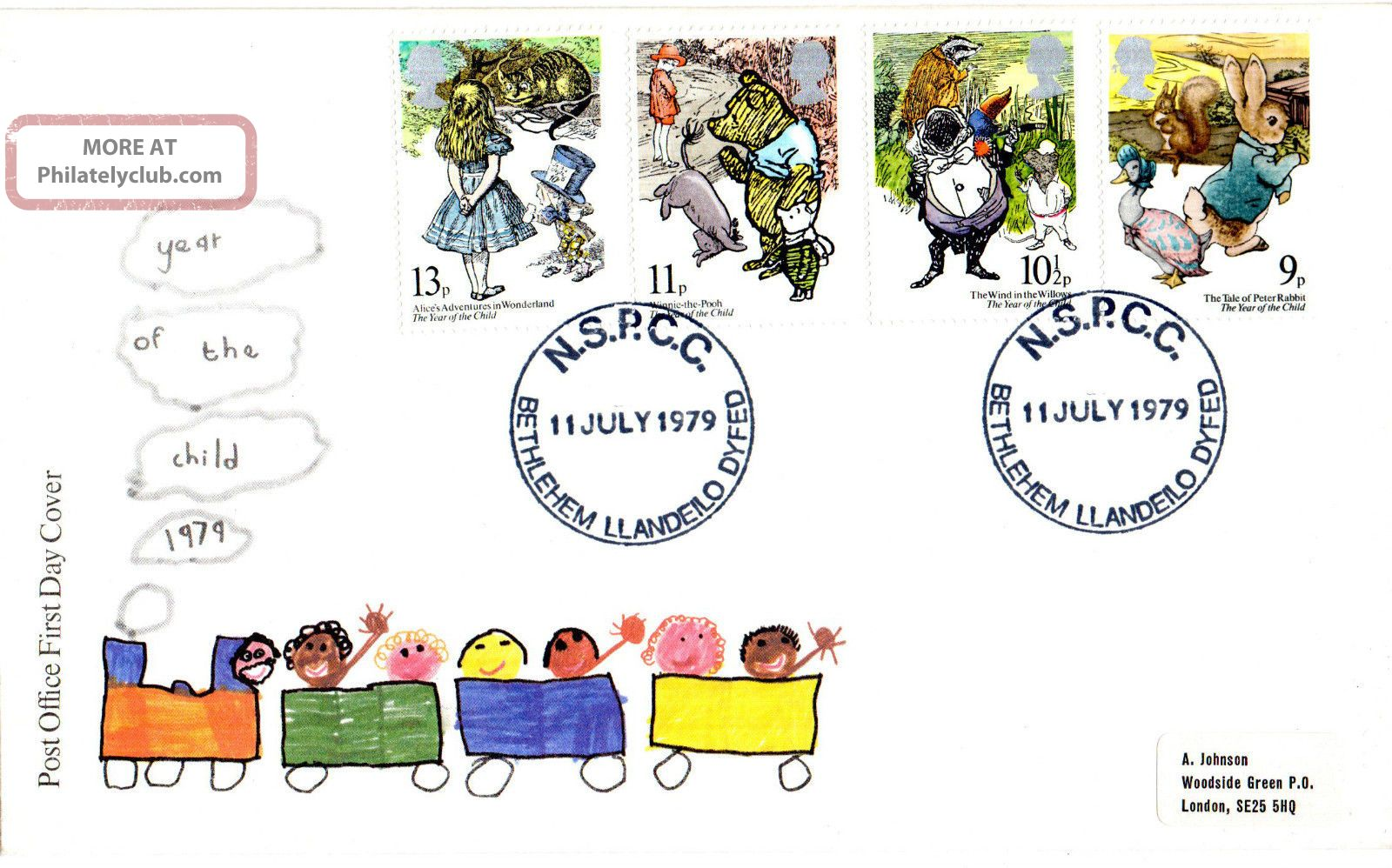 11 July 1979 International Year Of The Child Po Fdc Nspcc Bethlehem Shs Topical Stamps photo