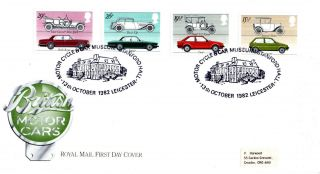 13 October 1982 British Motor Cars Royal Mail First Day Cover Stanford Hall Shs photo