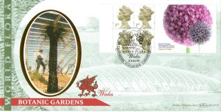 4 April 2000 Botanic Label Benham Blcs 179 Fdc World Flora Wales Shs photo