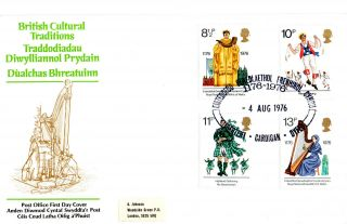 4 August 1976 British Cultural Traditions Po First Day Cover Eisttedfod Cardigan photo