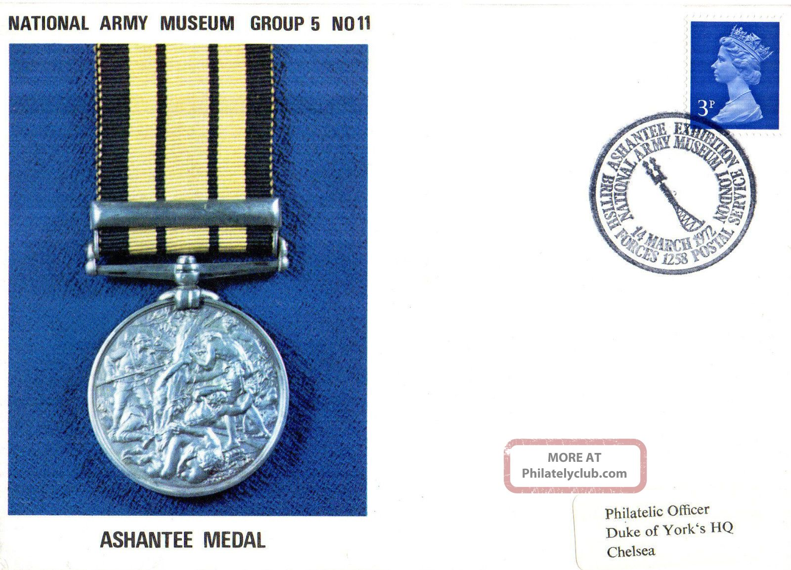 1972 Ashantee Medal 5/11 Army Museum Commemorative Cover Shs Topical Stamps photo