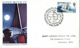 24 July 1967 Sir Francis Chichester Gpo First Day Cover Plymouth Devon Shs photo