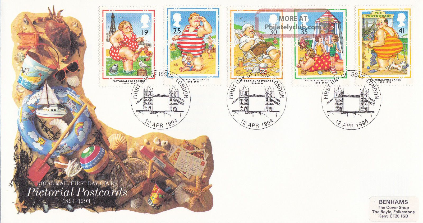 12 April 1994 Picture Postcards Royal Mail First Day Cover London Shs Topical Stamps photo