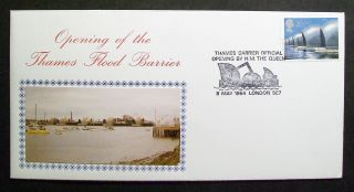 Gb Photo Cover Opening Of Thames Flood Barrier By Queen 08/05/84 London Se7 Shs photo