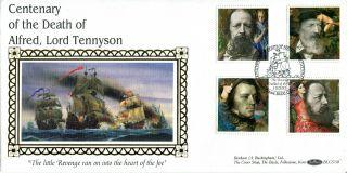 10 March 1992 Tennyson Benham Blcs73b First Day Cover Bude Cornwall Shs photo