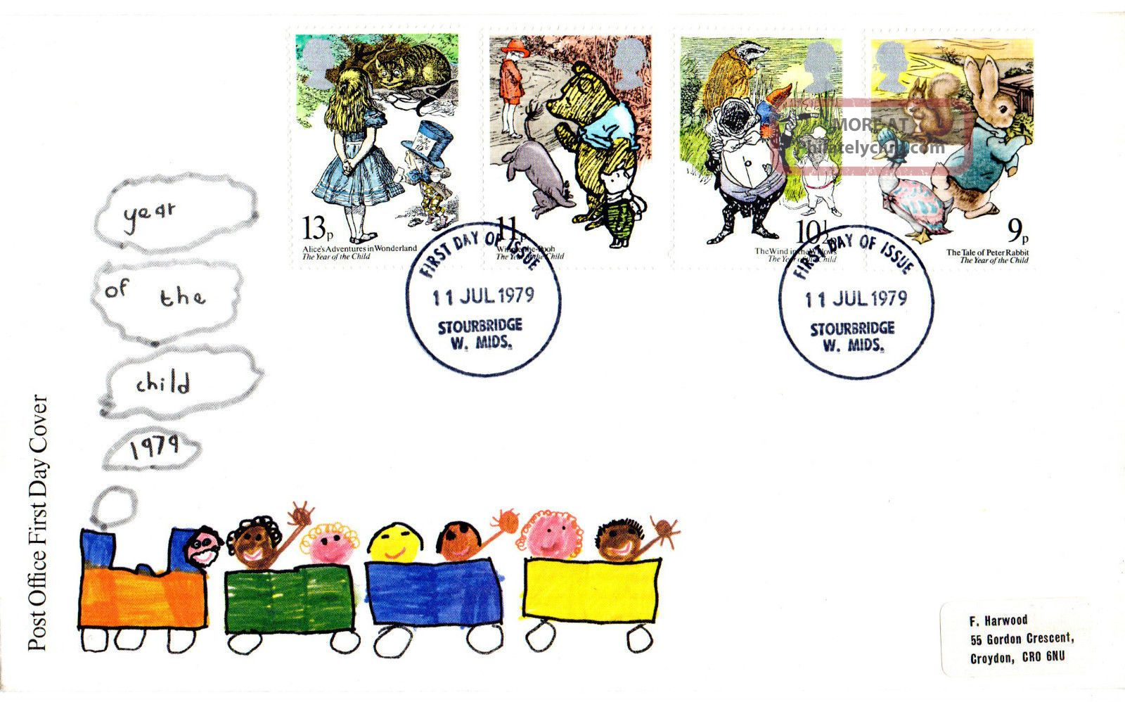 11 July 1979 International Year Of The Child Po Fdc Appropriate Stourbridge Cds Topical Stamps photo