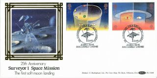 23 April 1991 Europe In Space Benham Blcs 64b First Day Cover Jodrell Bank Shs photo