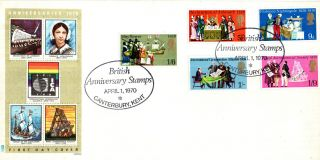 3 June 1970 Literary Anniversaries Philart First Day Cover Canterbury Kent Shs photo