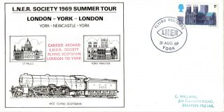 31 August 1969 Flying Scotsman Lner Summer Tour Carried Cover York Shs photo