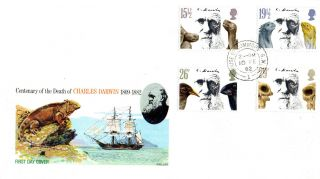 10 February 1982 Charles Darwin Philart First Day Cover House Of Commons Sw1 Cds photo
