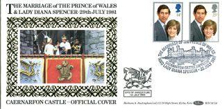 22 July 1981 Royal Wedding Benham Bocs (2) 6 First Day Cover Caernarfon Shs photo