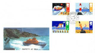 18 June 1985 Safety At Sea Philart First Day Cover House Of Commons Sw1 Cds photo