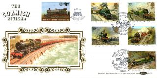 22 January 1985 Famous Trains Benham Bls 1 First Day Cover Cornish Riviera (a) photo