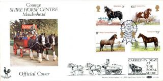 5 July 1978 Shire Horses Benham Bocs4b Carried First Day Cover Kenilworth Shs photo