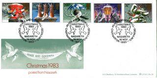 16 November 1983 Christmas Scarce Bradbury Le First Day Cover Nasareth Shs photo