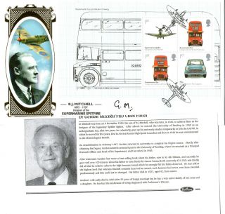 2009 Design Classics Signed Spitfire Gordon Mitchell Benham First Day Cover photo