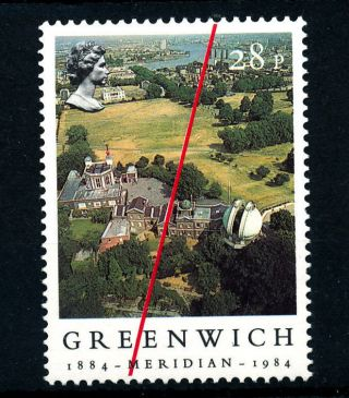 B751 Gb 1984 Sg1256 28p Greenwich Obervatory photo