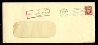 Gb Kg6 Bank Of British West Africa Perfin 1 1/2d Solo Rate 1951 photo