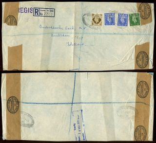 Gb Kg6 Bank Of British West Africa Perfins On Registered Env.  To Holland 1951. .  L1 photo