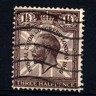 B2 Gb 1929 Sg436wi 1.  1/2d Purple - Brown photo
