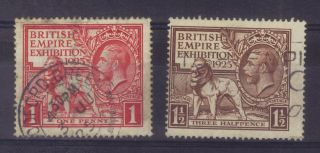 (s171) - George V 1925 British Empire Exhibition - Sg 432/3 - photo