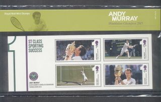 Gb 2013 Andy Murray Wimbledon Champion Stamp Presentation Pack photo
