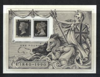 Great Britain 1990 Stamp World London 90 Ss - - Attractive Topical (mh193f) photo