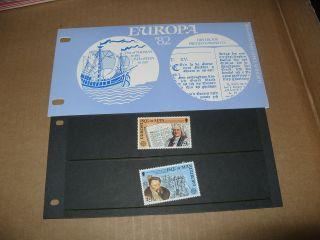 Isle Of Man Presentation Pack Europa ' 82 Historic Event photo