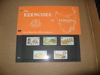 Isle Of Man Presentation Pack Kermodes Of Tasmania photo