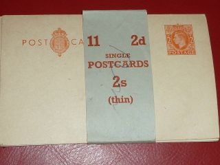 King George Vi 2d Orange On Buff Prepaid Post Card Post Office Issued In Band photo