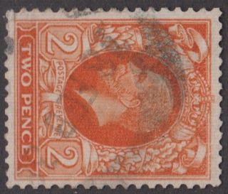Gb Kgv 2d Orange Sg442b Two Pence Sideways Watermark George V 1935 Stamp photo