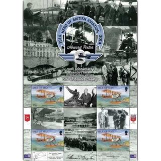 The 2014 Schneider Trophy Perforated Cto Stamp Sheet photo