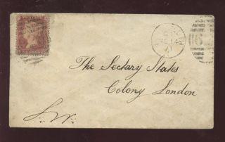 Gb Qv 1871 Cover 1d To Colonies Secretary Landport Posb photo