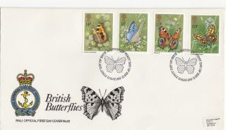 (28788) Gb Rnli Fdc Butterflies - London Sw 13 May 1981 photo