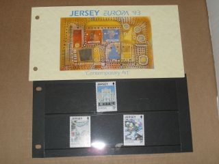 Jersey Presentation Pack Europa ' 93 Contemporary Art photo