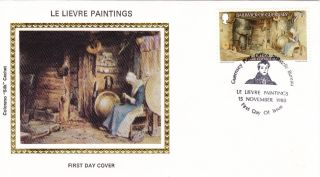 Guernsey 7p - Le Lievre Paintings 1980 Fdc / Colorano photo