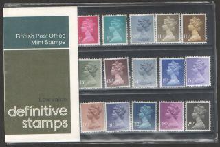 1978 Machin Definitive Royal Mail Presentation Pack 129a Um photo