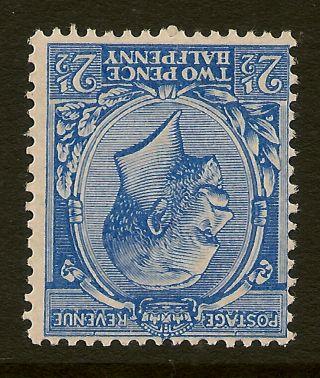 Gb : 1912 2 1/2d Cobalt - Violet - Blue Wmk Inverted & Reversed N21 (2) D Unmounted photo