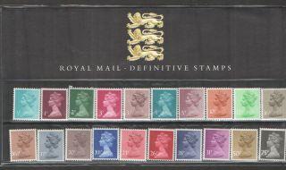 1983 Machin Definitive Royal Mail Presentation Pack 1 Um photo