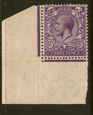 Gb : 1912 Simple Cypher 3d Reddish - Violet N22 (1) Unmounted Corner Single photo
