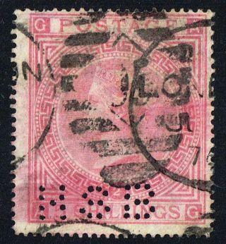 Qv 1867 Sg126 5/ Rose Plate 2 Perfin