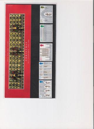 1989 Royal Mail Presentation Pack Christmas photo