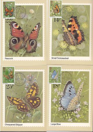 (32404) Gb Phq Fdi Butterflies Maxicard / Postcard - Bureau 13 May 1981 photo