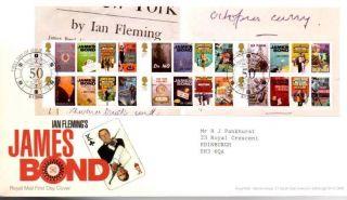 James Bond Mini Sheet Fdc 8 - 1 - 08 London Se1 Shs - F10 photo