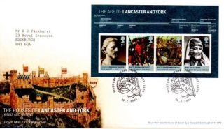 Houses Of Lancaster & York Miniature Sheet Fdc 28 - 2 - 08 Tewkesbury Shs - F10 photo