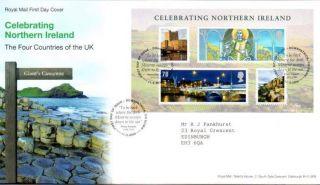 Celebrating N.  Ireland Miniature Sheet Fdc 11 - 3 - 08 Downpatrick Shs - F10 photo